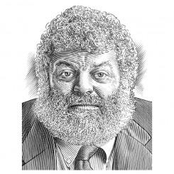pen and ink crosshatch portrait
