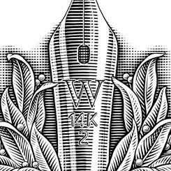 engraving motley pen nib logo