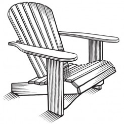line art graphic image adirondack chair