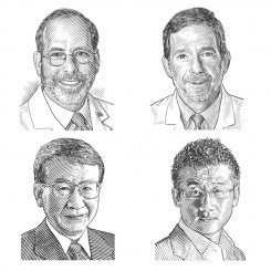 line art portraits doctors