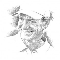line art – golf portrait