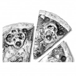 stipple food pizza