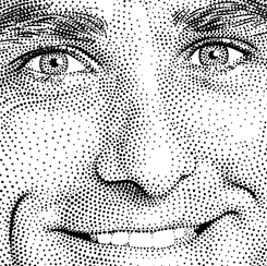 stipple portraits sports figures