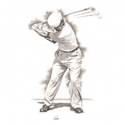 pen and ink ben hogan top of swing