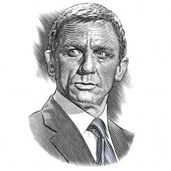 pen and ink portraits james bond